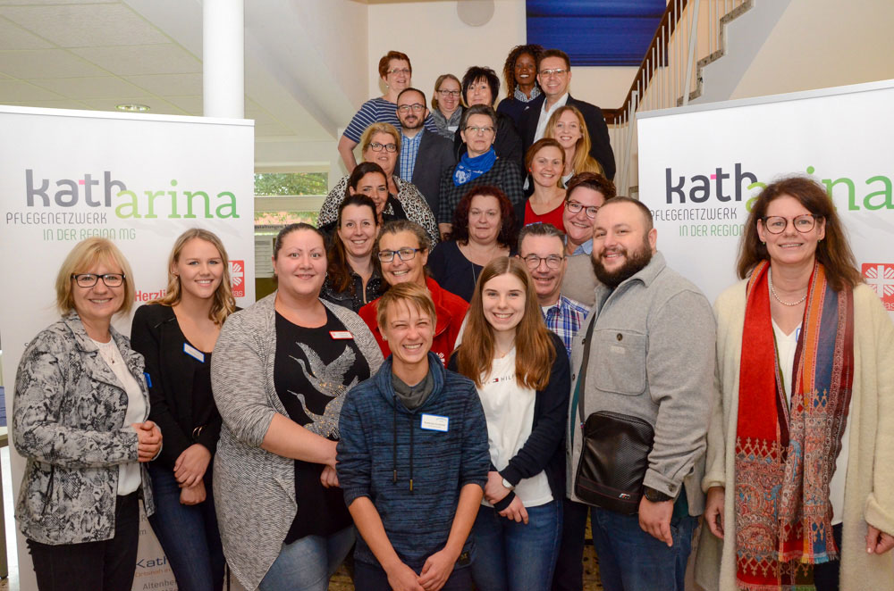 Über die gute Resonanz freuten sich die Aktiven bei der Ausbildungsbörse des Pflegenetzwerks Katharina.